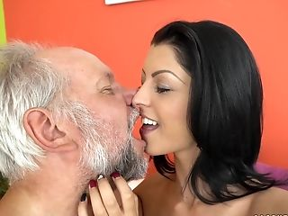 Vivien Bell's Taut Nubile Fuckbox For An Old Man