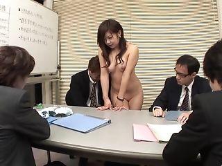 Shrewd Japanese Businessmen Receive Hot Oral In The Boardroom