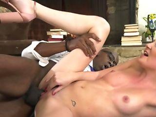 Jessica Rex Has Interracial Fuck-a-thon Act At Fireplace