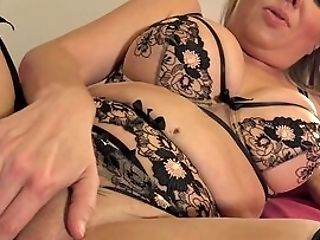 Chubby Wifey Drives Boy's Fat Man-meat All The Way Down Her Vag