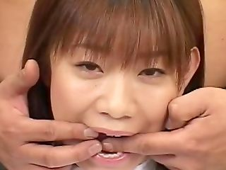 Youthful Japanese Gets Crammed With Jizz