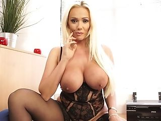 Obese Brit Cougar Lucy Zara Is Playing Her Vulva On The Table