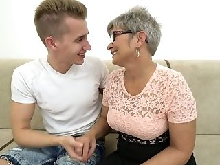 Youthfull Dude Fucks Nasty Granny Jessye And Unloads Jizz All Over Her Face