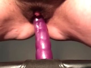 Hairy Ftm Loves Light Cunny & Breast Torture Then Rails Fuck Stick Good