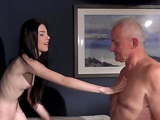 Skinny Youthful Stunner Gets An Old Dick In Her Fresh Twat