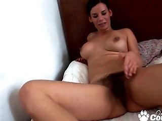 Big Breast Dark Haired Stunner Gets Banged By Her Hubby On Homemade Flick