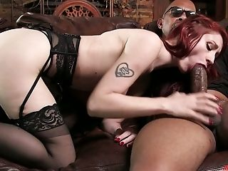 Violet Monroe's Addiction To Black Man-meat Is Amazing And She Fucks Like Mad