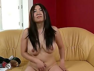 If You Are For Something Exotic, We Have French-asian Diva, Midori Tanaka. Shes Come At Her Very First Casting Ever To Demonstrate Her Drooping Tits A