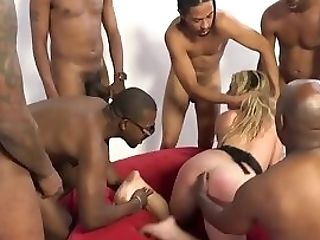 Blonde Biotch With Petite Tits Blows Stiffys