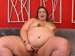 Fat Babe Doll Bbw Thumbs Her Gash Before Receiving A Hard Fucking