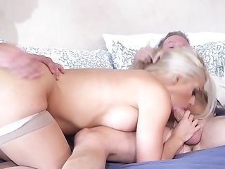 Blonde Holly Hearts With Phat Melons Gargles Like A Very First Rate Hoe In Steamy Oral Act With Will Powers After Chocolate Speedway Fucking