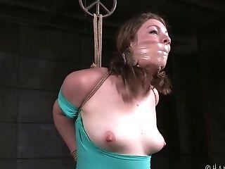Hog-tied Pallid Nymphomaniac With Big Booty Harley Ace Gets Jewel Stimulated