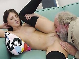 Wild Czech Nymph Katy Rose Lets Bearded Pickuper Fuck Her Moist Cunt