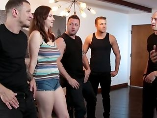 Cross Eyed Dark Haired Jay Taylor Tied Up And Gang-fucked